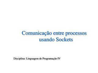 Comunicação entre processos usando Sockets  Disciplina: Linguagem de Programação IV