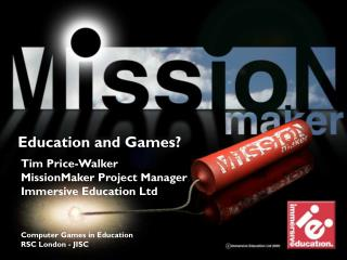 Education and Games?