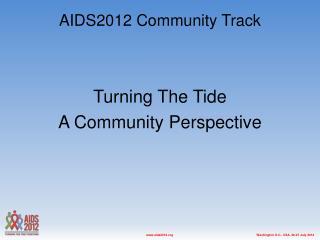 AIDS2012 Community Track