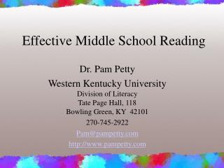 Effective Middle School Reading Instruction PowerPoint