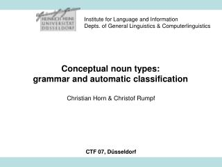 Conceptual noun types: grammar and automatic classification