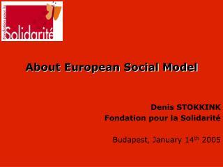 About European Social Model
