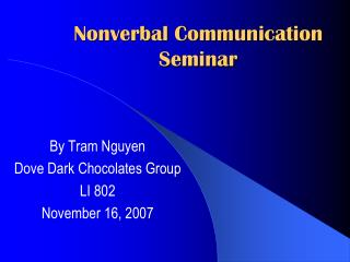Nonverbal Communication Seminar