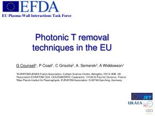 Photonic T removal techniques in the EU