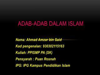 Adab-adab dalam islam