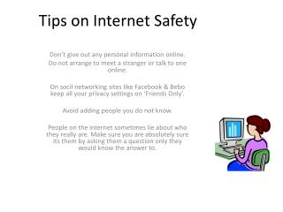 Tips on Internet Safety