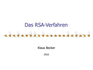Das RSA-Verfahren