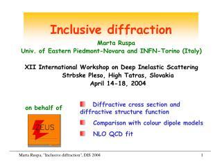 Inclusive diffraction