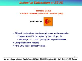 Inclusive Diffraction at ZEUS