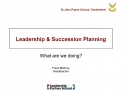 Leadership  Succession Planning
