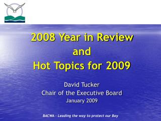 2008 Year in Review  and  Hot Topics for 2009 David Tucker  Chair of the Executive Board