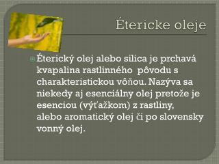 Étericke oleje