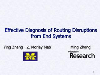 Effective Diagnosis of Routing Disruptions from End Systems