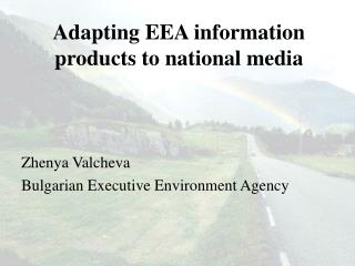 Adapting EEA information products to national media