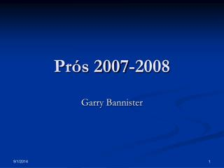Prós 2007-2008