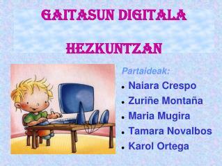 Gaitasun Digitala  Hezkuntzan