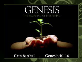 Cain & Abel     -     Genesis 4:1-16