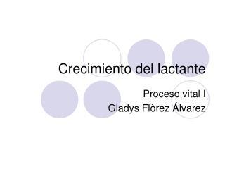 Crecimiento del lactante