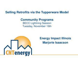 Energy Impact Illinois Marjorie Isaacson