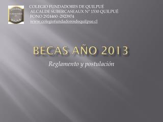 Becas año 2013