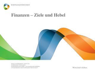 Finanzen – Ziele und Hebel