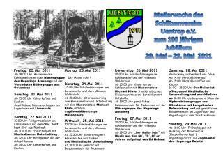 Meilerwoche  des Schützenvereins Uentrop e.V. z um 100 jährigen Jubiläum 20. Mai – 29. Mai  2011