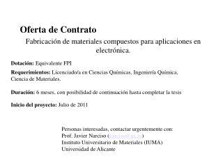 Oferta de Contrato