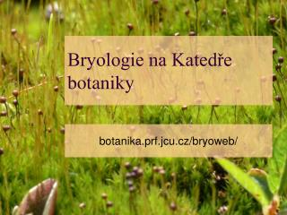 Bryologie na Kated?e botaniky