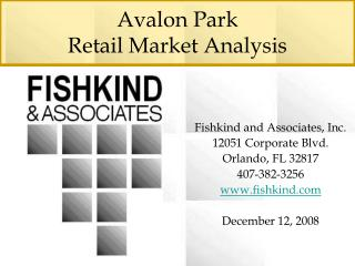 Avalon Park  Retail Market Analysis