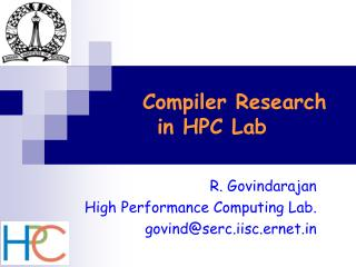 Compiler Research  in HPC Lab