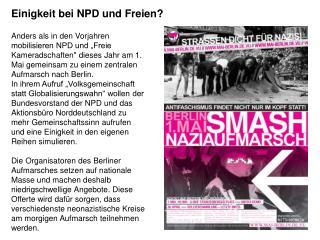 Einigkeit bei NPD und Freien?