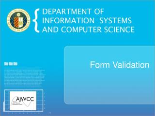 Form Validation