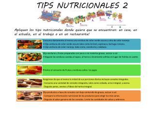 TIPS NUTRICIONALES 2