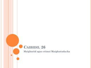 Caibidil 26