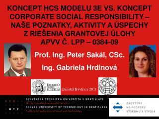 KONCEPT HCS MODELU 3E VS. KONCEPT CORPORATE SOCIAL RESPONSIBILITY –