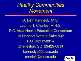 Healthy Communities Movement