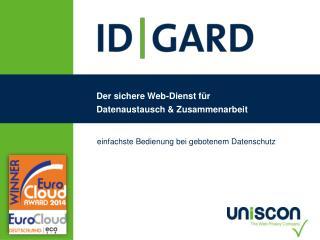 Der sichere Web-Dienst für  Datenaustausch & Zusammenarbeit