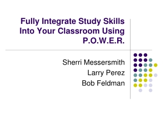 Study Skills for Undergraduates