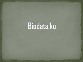 Biodata.ku