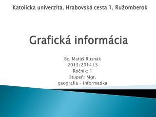 Grafická informácia
