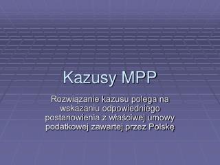 Kazusy MPP