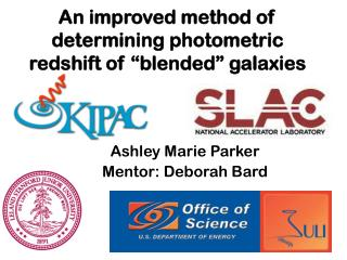"An improved method of determining photometric redshift of ""blended"" galaxies"