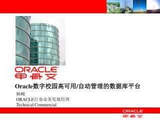 Oracle 数字校园 高可用 / 自动管理的数据库平台