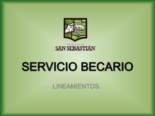 SERVICIO BECARIO