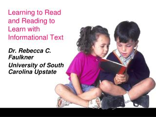 Learning to Read and Reading to Learn with Informational Text