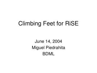 Climbing Feet for RiSE