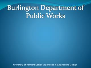Burlington Department of Public Works