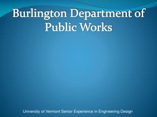 Burlington Department of Public Works