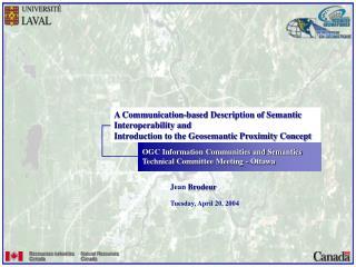 OGC Information Communities and Semantics Technical Committee Meeting - Ottawa