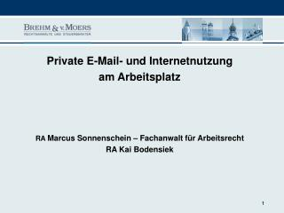Private Nutzung des firmeneigenen E-Mail-Accounts am Arbeitsplatz?